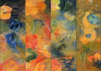 """Life On Mars"", Oil on Canvas, 2003, H40"" x W60"""